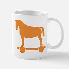 Orange Trojan Horse Mugs