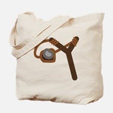 Slingshot With Stone Tote Bag