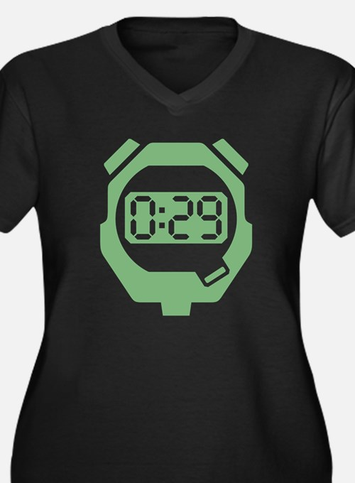 Green Stop Watch Plus Size T-Shirt
