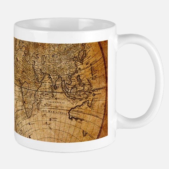 voyage compass vintage world map Mugs