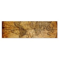 voyage compass vintage world map Bumper Bumper Sticker
