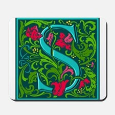 Floral Initial S Mousepad