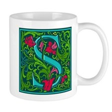 Floral Initial S Mug