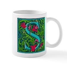 Floral Initial S Small Mug