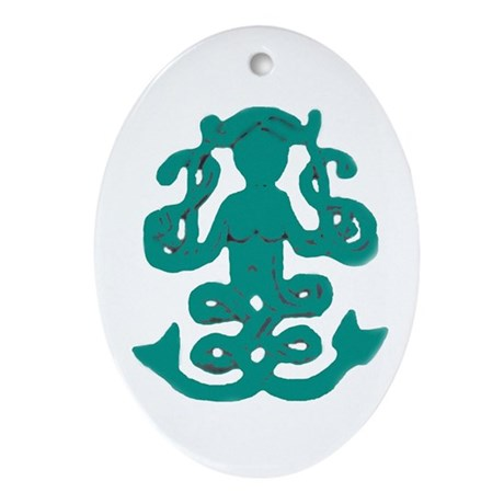 Celtic Mermaid Oval Ornament