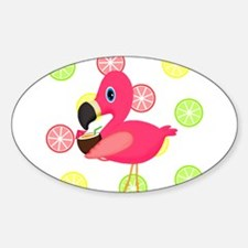 Citrus Pink Flamingo Decal