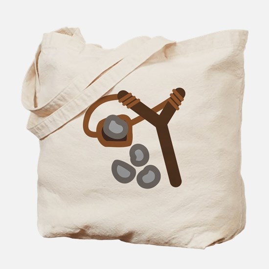 Slingshot With Stones Tote Bag