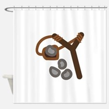 Slingshot With Stones Shower Curtain