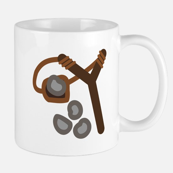 Slingshot With Stones Mugs