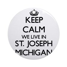 Keep calm we live in St. Joseph M Ornament (Round)