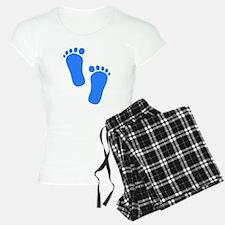 Blue Baby Feet Pajamas