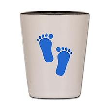 Blue Baby Feet Shot Glass