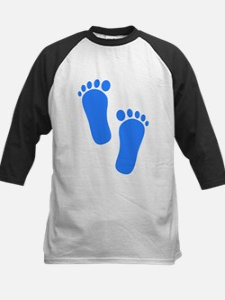 Blue Baby Feet Baseball Jersey