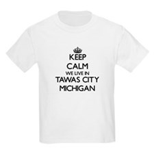 Keep calm we live in Tawas City Michigan T-Shirt