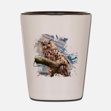Painting Owl Shot Glass