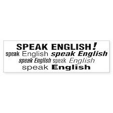 Speak English Speak English Bumper Bumper Sticker