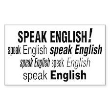 Speak English Speak English Rectangle Decal