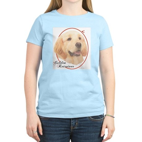 Golden Retriever Cameo Women's Pink T-Shirt