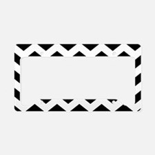 Black And White Chevron License Plate Holder
