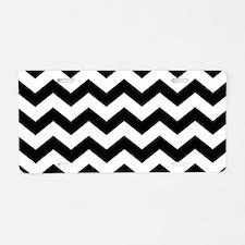 Black And White Chevron Aluminum License Plate