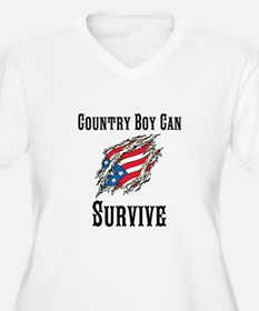 Country Boy Can Survive Plus Size T-Shirt