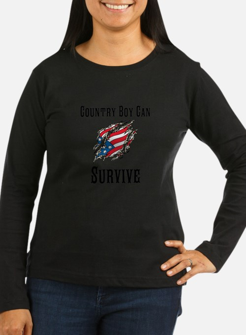 Country Boy Can Survive Long Sleeve T-Shirt