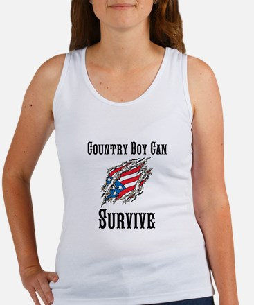Country Boy Can Survive Tank Top