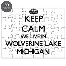 Keep calm we live in Wolverine Lake Michiga Puzzle