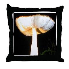 Towering Mushroom Throw Pillow