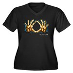 Diamond Cutter Logo Women's Plus Size V-Neck Dark