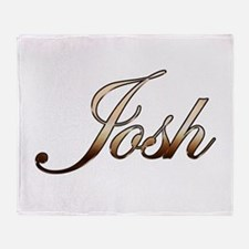 Gold Josh Throw Blanket