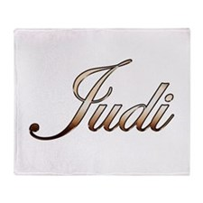 Gold Judi Throw Blanket