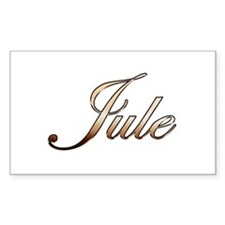 Gold Jule Decal