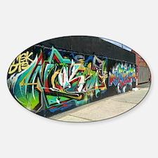 Bushwick Graffiti Sticker (Oval)