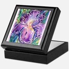 Iris! Beautiful, purple flower, Keepsake Box