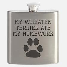 My Wheaten Terrier Ate My Homework Flask