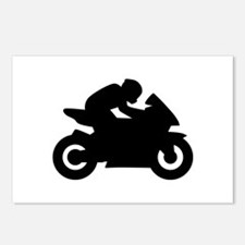 Motorcycle racing Postcards (Package of 8)