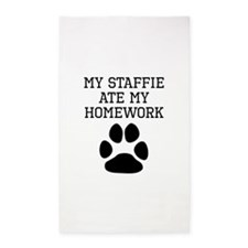 My Staffie Ate My Homework Area Rug