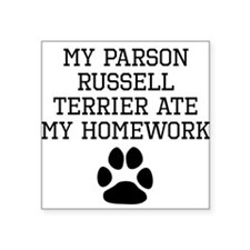 My Parson Russell Terrier Ate My Homework Sticker