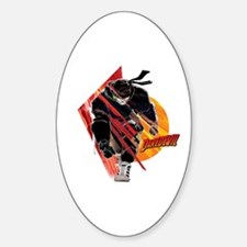 Daredevil Running Sticker (Oval)