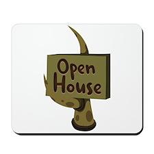 Open House Sign Mousepad