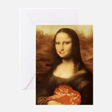 Mona Lisa Loves Valentine's Candy Greeting Cards
