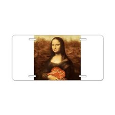Mona Lisa Loves Valentine's Aluminum License Plate