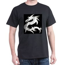 White Star Dragon Black T-Shirt