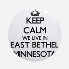 Keep calm we live in East Bethel Ornament (Round)