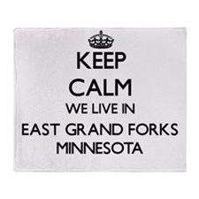 Keep calm we live in East Grand Fork Throw Blanket