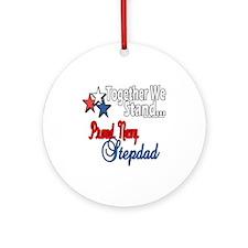 Proud Navy Stepdad Ornament (Round)