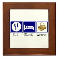 Eat, Sleep, Weave Framed Tile