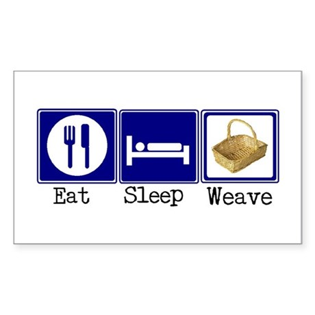 Eat, Sleep, Weave Rectangle Sticker