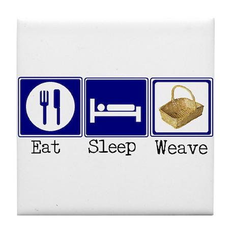 Eat, Sleep, Weave Tile Coaster